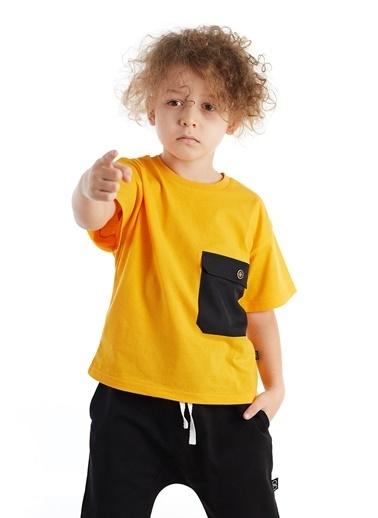 Colorinas Big Pocket Oversize T-Shirt Sarı
